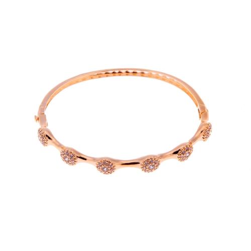 Mulheres elegantes pulseira pulseira pulseira pulseira de cristal Bling Zircon grânulo 18k ouro chapeado cobre senhora presente Jewllery