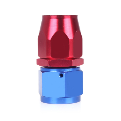 AN12 Straight Fuel Swivel Oil Hose End Fitting Adapter Aluminum Red