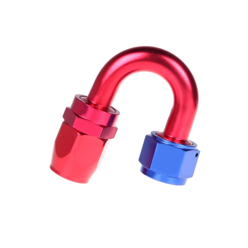 AN12 180degree Fuel Swivel Oil Hose End Fitting Adapter Aluminum Red