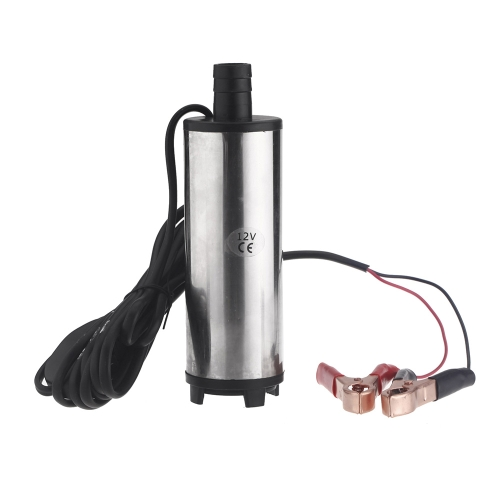 12V Water Oil Diesel Fuel Transfer Pump Submersible On/Off Switch Car Van Stainless Steel