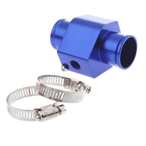 Temperatura wody Temperatura Gauge Wspólne rurka czujnika Wąż chłodnicy Adapter 28mm Niebieskie