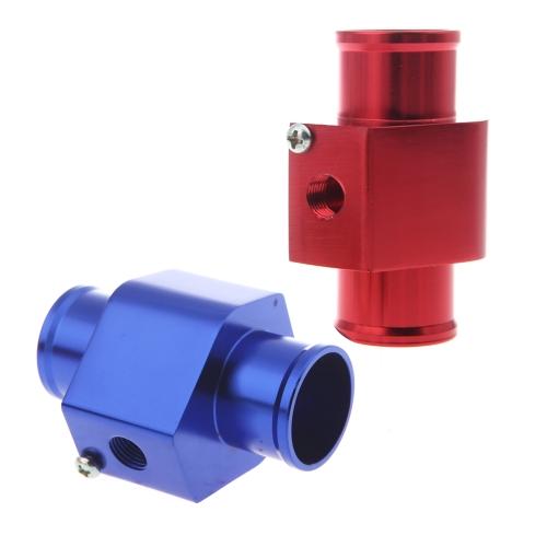 Water Temp Temperature Joint Pipe Sensor Gauge Radiator Hose Adapter 28mm Blue