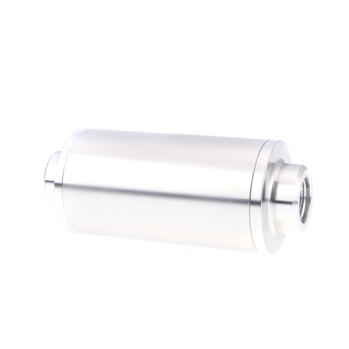 Universal Fuel Filter with 2pcs AN6/AN8/AN10 Adaptor Fittings Total 6pcs Black Fittings Silver