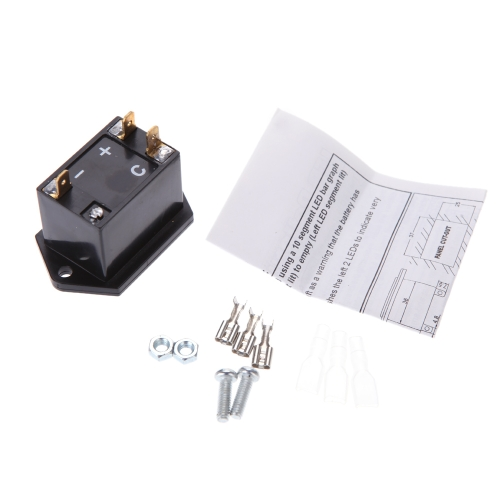 12/24 Volt Golf Cart Digital LED Battery Status Charge Indicator Monitor Meter Gauge