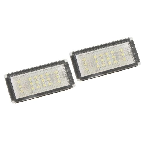 Pair LED License Plate Light Lamp for BMW E90 E91 E92 E93 M3 E46
