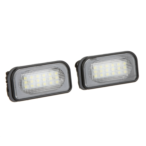 Pair LED License Plate Light Lamp for BENZ W203 4D Sedan