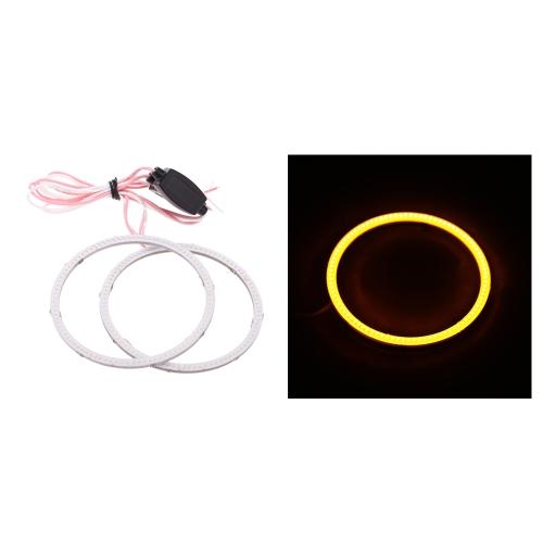1 Pair of COB Motorcycle Car LED Angel Eyes Headlight Halo Ring 80(MM)