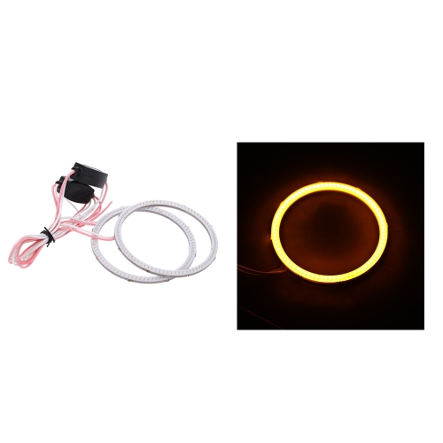 1 Pair of COB Motorcycle Car LED Angel Eyes Headlight Halo Ring 70(MM)