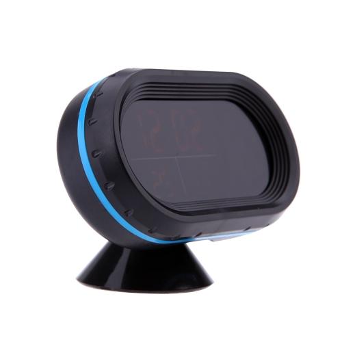 Cyfrowy automatyczny termometr samochodowy Woltomierz Mikrotelometr Noctilucous Clock Freeze Alert + Baterie