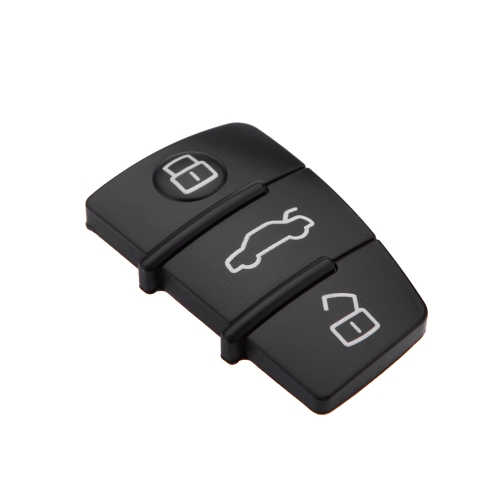 New Replacement 3 Button Rubber Remote Pad for Audi 3 Buttons Remote Key Fob