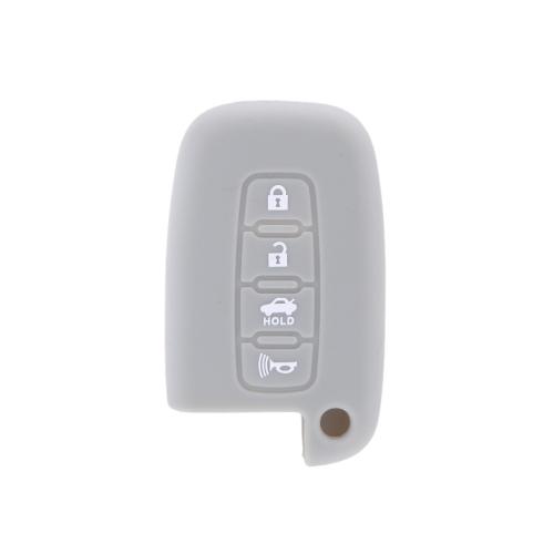 Remote Silicone Shell Case Cover for Hyundai 4 Button Smart Key Protective