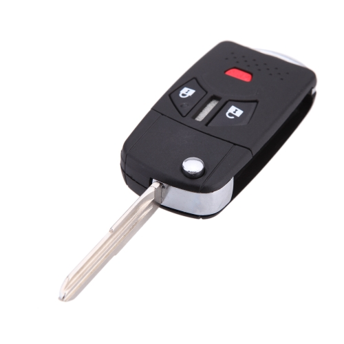 Remote Flip Folding Key Shell Case Key Cover for Mitsubishi Lancer Galant Mirage 2+1 Buttons