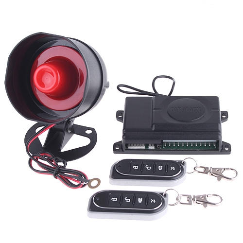 1-Way Car Alarm Security System with Remote Control