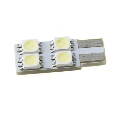 T10 W5W 194 168 4 5050 SMD LED Белая Автомобильная Лампа Бокового Клина