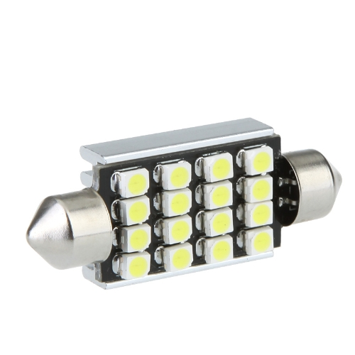 LED Car Light 42mm 16 1210 Canbus Biała
