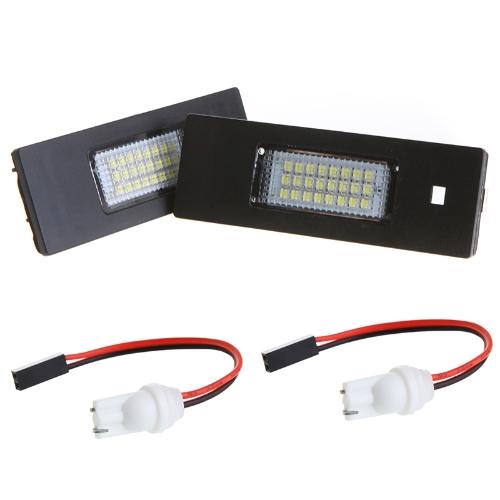 Pair Error Free 24 3528 SMD LED License Plate Light Lamp Bulb for BMW E63 E64 E81 E87 E85(Z4)