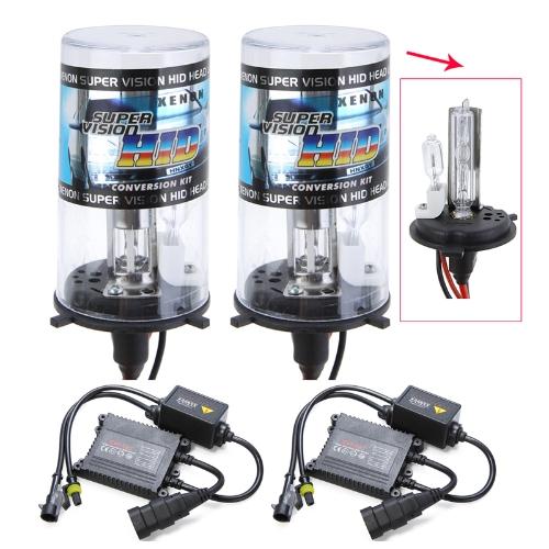 H4-2 35W Xenon HID Conversion Kit H4/H Beam Bulbs Lights Super Vision Headlamps Ballast