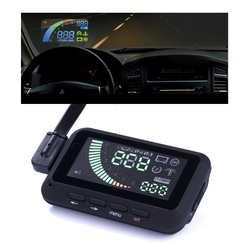 ifound Universal Car HUD Vehicle-mounted Head Up Display System OBDⅡ Overspeed Warning