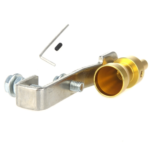 Turbo Dźwięk Whistle rury wydechowej rury wydechowej wyrzutowy zaworu Aluminium Rozmiar S Złoty