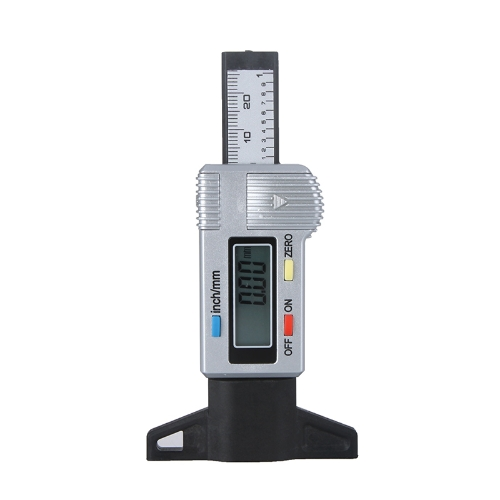 Trace de pneu Digital Depth Gauge Tire LCD 0-25.4mm métrique / pouce