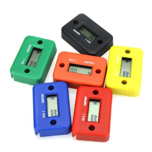 Docooler Digital Hour Meter Gauge LCD Inductive Hour Meter