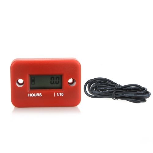 Jauge numérique Compteur horaire LCD pour Racing Moteur Essence Moto VTT Motoneige Faucheuse 0,1 / 99999Hr
