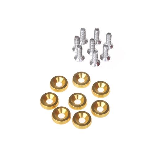 8pcs Bumper Washer & Bolts Kit Set Aluminum Alloy Golden