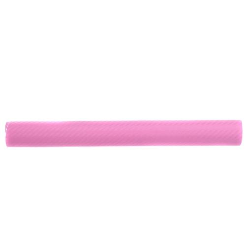 127*30CM 3D Carbon Fiber Film Vinyl Sticker Car Body / Interior Decoration Pink