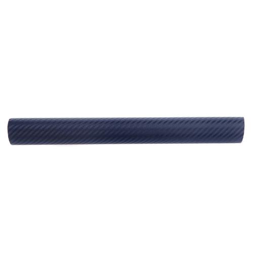 150 * 30CM en fibre de carbone 3D Film vinyle autocollant carrosserie / décoration d'intérieur bleu foncé