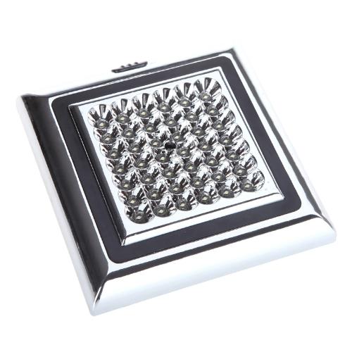 KKmoon 12V 42 LED Coche Vehículo Interior Techo Lámpara Decorativa Domo Luz  Cuadrada Blanca