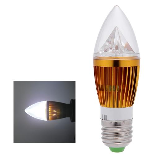 E27 8W LED Ampoule Bougie Lustre Lampe Lumière Forte Puissance AC85-265V