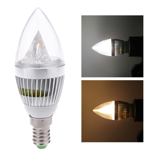 E14 6W LED Ampoule Bougie Lustre Lampe Lumière Forte Puissance AC85-265V