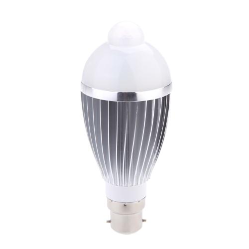 B22 9W привело ИК Пир человеческого движения & световой датчик автоматического обнаружения лампа 85-265V