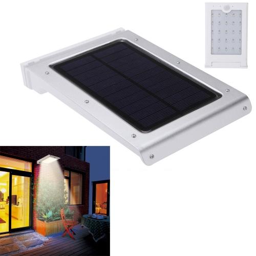 Солнечных батареях яркие всего 25LED света человеческого тела движение датчик водонепроницаемым экологическо благоприятный для путь Открытый лестничные шаг дворе сад