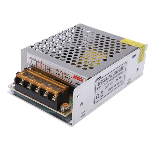 ac 110v 220v to dc 12v 5a 60w voltage transformer switch power supply for led strip sales online. Black Bedroom Furniture Sets. Home Design Ideas