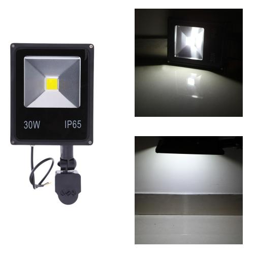 30W  LED Flood Light 85~265V  PIR Motion Sensor Induction Sense Lamp  Water-resistant Environmental-friendly for Pathway Outdoor Stair Step Garden Yard