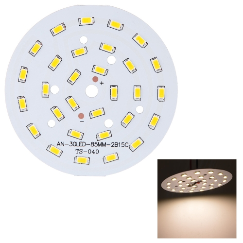 15W Round 5730 SMD 30 LEDs Super Bright LED Chip Light Lamp Bulb  DC 45-51V