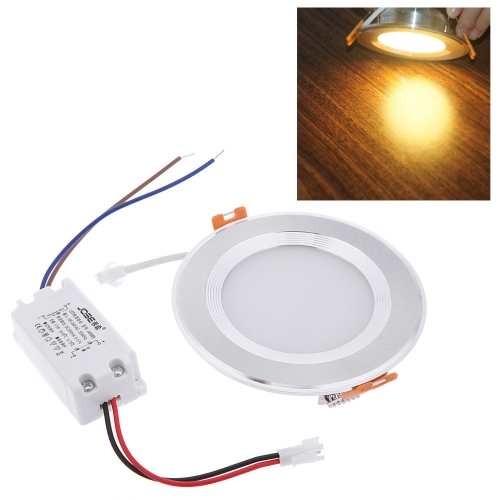 5W Round LED Recessed Ceiling Panel Light Down Lamp Ultra Thin Bright for Living Room Bathroom Bedroom Kitchen AC100-240V