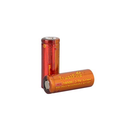 TrustFire 2PCS 18500 1100mAh 3.7V IMR Rechargeable High Drain Battery for Electronic Smoke Flashlight