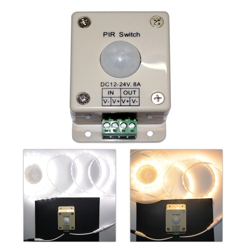 LED Lighting Motion Sensor Switch 12-24V DC Infrared PIR Light ON OFF