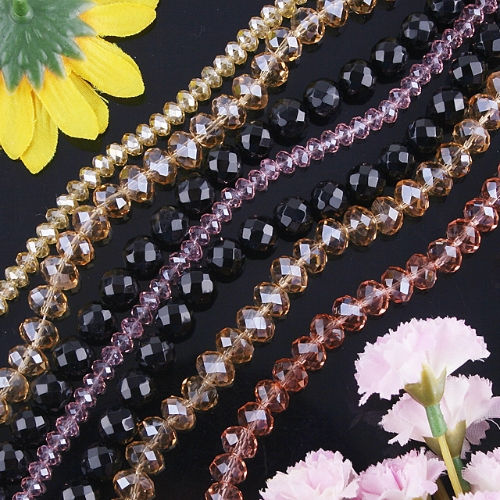 PROMOTION!! 7 STRAND WHOLESALE CRYSTAL FACETED LOOSE BEAD 11
