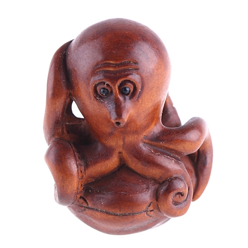 boxwood netsuke octopus