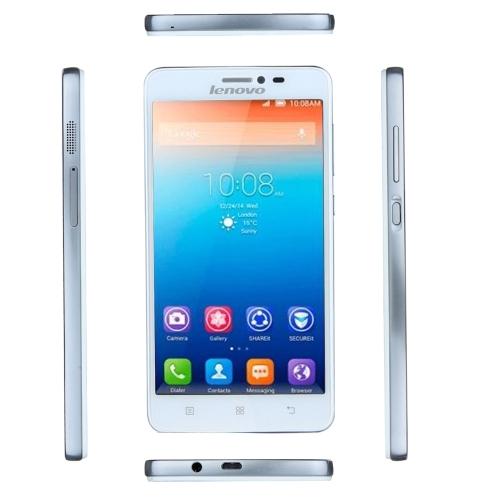 Lenovo S850 Smartphone MTK6582 Quad Core Android 4.4 5.0'' IPS Screen 1GB 16GB 13.0MP WCDMA 3G Cellphone White