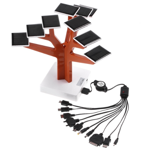 USB Solar Panel Power Battery Charger Tree for iPhone Mobile Phones MP3 MP4 PSP