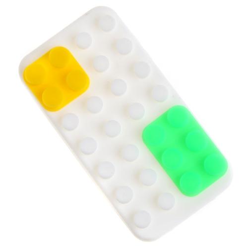 Кирпич силиконовые задняя крышка для iPhone 4 4S