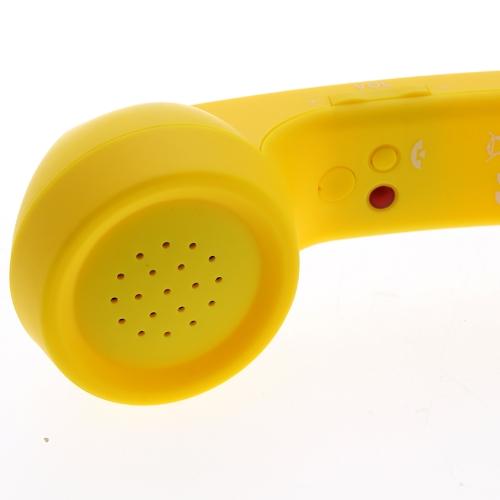レトロなポップの電話機の iPhone 4/4 s イエロー
