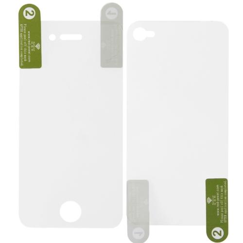 2 szt Wysoka jasność LCD Screen Protector for iPhone 4 / 4S Przod