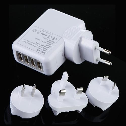 4 portas USB carregador de viagem UE/AU/EUA/Reino Unido