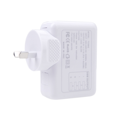 4 USB 5V 2.1A AC Adapter AU Plug Wall Charger for iPhone iPad Samsung HTC LG Smartphone Tablet