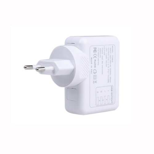 4 USB 5V 2.1A AC Adapter EU Plug Wall Charger for iPhone iPad Samsung HTC LG Smartphone Tablet